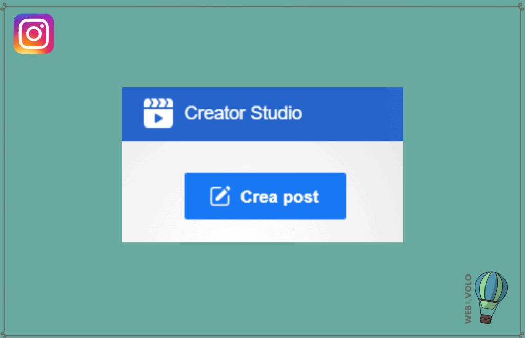 creator studio condivisione post
